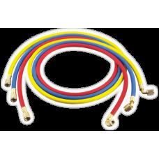 Шланги заправочні  90см HONGSEN HS-336 комп-т (3000 psi, 1/4-1/4SAE(45°)-3шт)