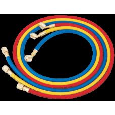 Шланги заправочні  150см HONGSEN HS-360 комп-т (3000 psi, 1/4-1/4SAE(45°)-3шт)