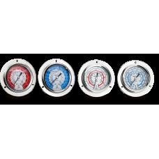 Манометр гліцериновий HONGSEN 128 H (R410a, psi, kg/cm², -40ºC - +120ºC)