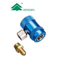 Муфта швидкознімна HONGSEN   HS-ML-S з блокуванням, з адаптером M14*1,5-1/4SAE (R134a)