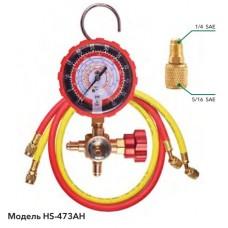 """Манометричний колектор (HP) HONGSEN HS-473AH-60"""" комплект (R410, 22, 134a, 407с, корпус - латунь)"""