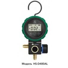 """Манометричний цифровий колектор  (LP) HONGSEN HS-D480AL-36"""" (R134a, 1234yf, 404A, 410A, 600A та ін.)"""