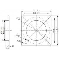 Дифузор для вентилятора діаметром Ø200 мм в Києві і Україні.| MAER