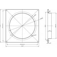 Дифузор для вентилятора діаметром 550 мм в Києві і Україні.| MAER