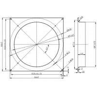 Дифузор для вентилятора діаметром 710 мм в Києві і Україні.| MAER
