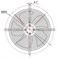 YWF 2E-250B  Вентилятор осьовий 250мм MAER YDWF68L25P2-300P-250 B (220В, 1524м3/год, IP54) в Києві і Україні.| MAER