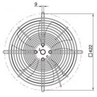 YWF 4E-350S Вентилятор осьовий 350мм MAER YDWF74L34P4-422N-350 (220В, 2512м3/год, IP54) в Києві і Україні.| MAER