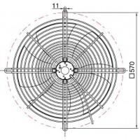 YWF 4E-500S Вентилятор осьовий 500мм MAER YDWF102L35P4-570N-500 (220В, 6542м3/год, IP54) в Києві і Україні.| MAER