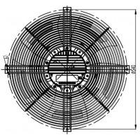 YWF EC 4D-500S Енергозберігаючий осьовий вентилятор 500мм MAER PMSWF112L60-570N-500 S (380В, 8222м3/год, IP54) в Києві і Україні.| MAER