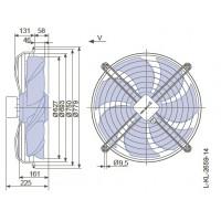 Вентилятор осьовий 630мм Ziehl-Abegg FN063-8EK.4I.V7P1 (220В, 8000м3/год, IP54) в Києві і Україні.| Ziehl-Abegg