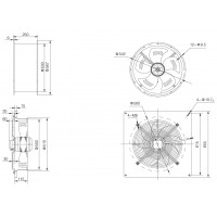 YWF 4E-500-B-137/35-B Вентилятор осьовий 500мм Weiguang (220В, 6420м3/год, IP54) в Києві і Україні.| Weiguang